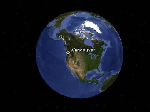 Vancouver-globe