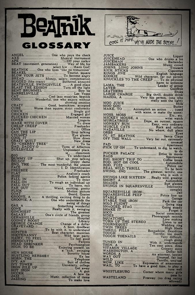 Beatnik Glossary